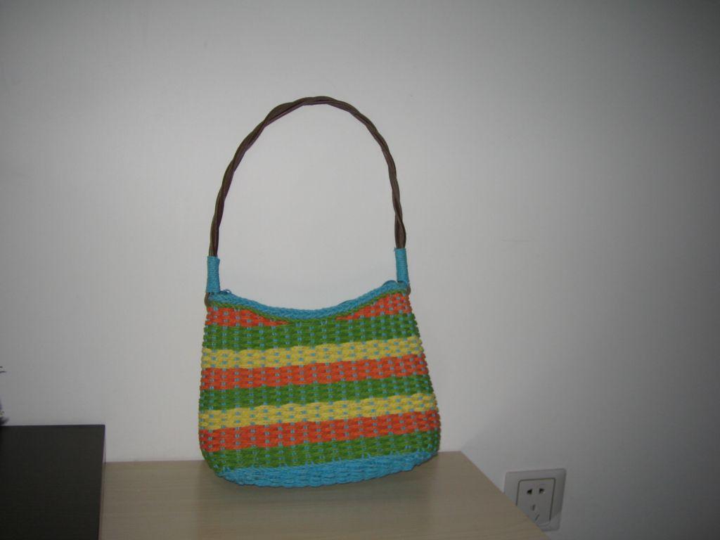 时尚自然的外贸手工编织包包
