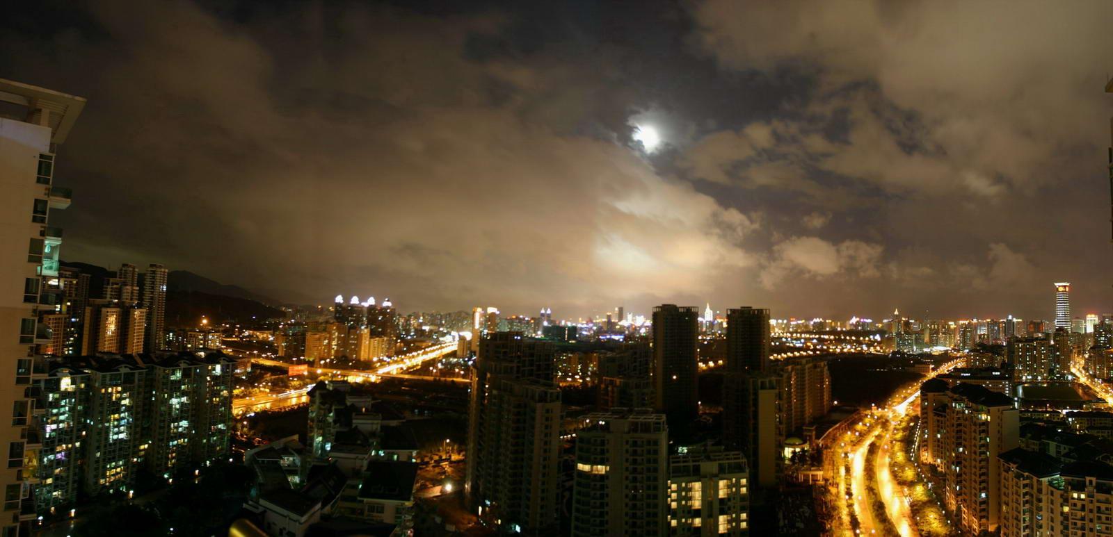 中秋的月亮 就看到几分钟
