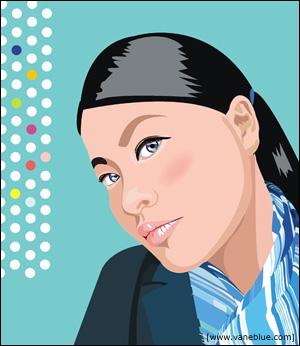 [鲸字招牌]教你画时尚杂志上的美女插画~~coreldraw