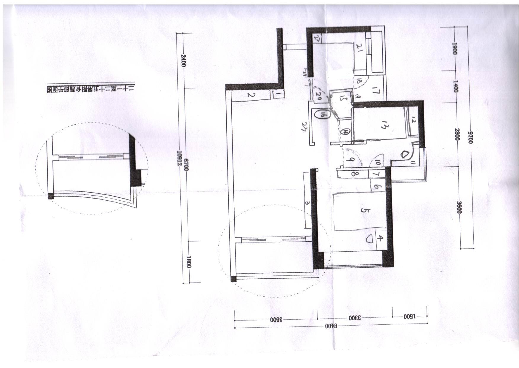 120平米两房出租屋设计图纸