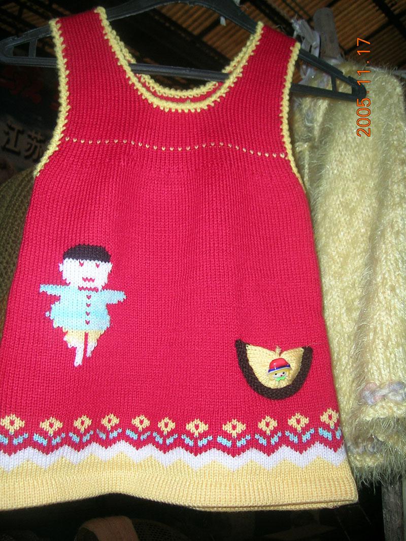 手工编织的宝宝毛衣,有木有人喜欢?