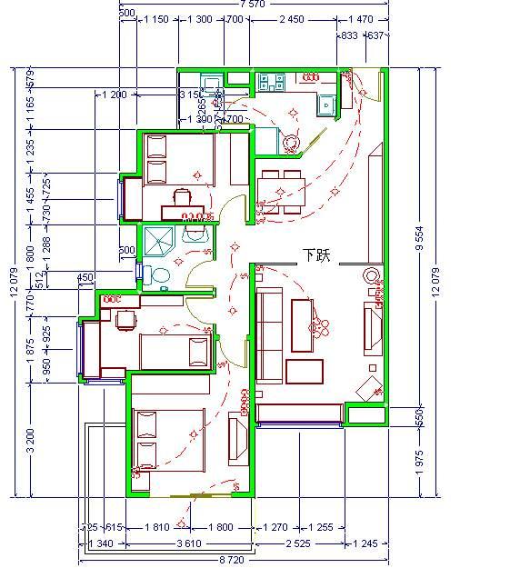 loft办公室平面设计图展示