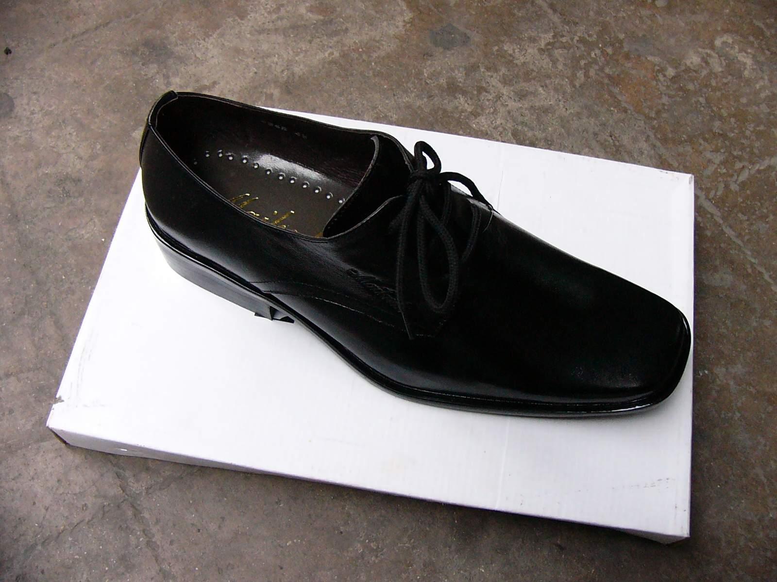花样系鞋带方法步骤图解皮鞋