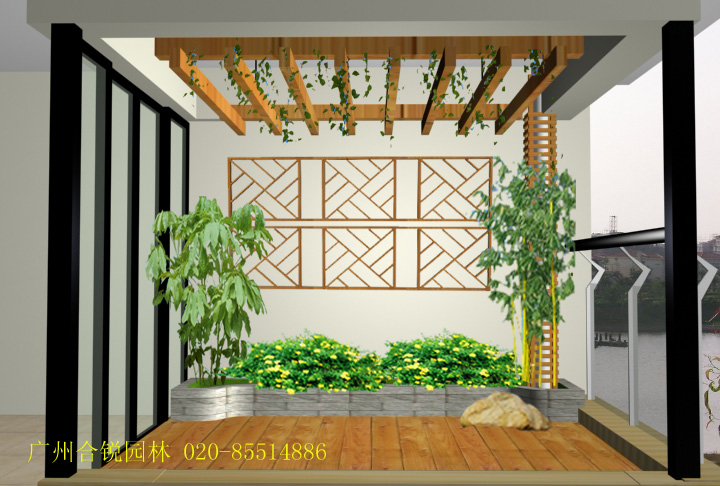 室内阳台葡萄架效果图