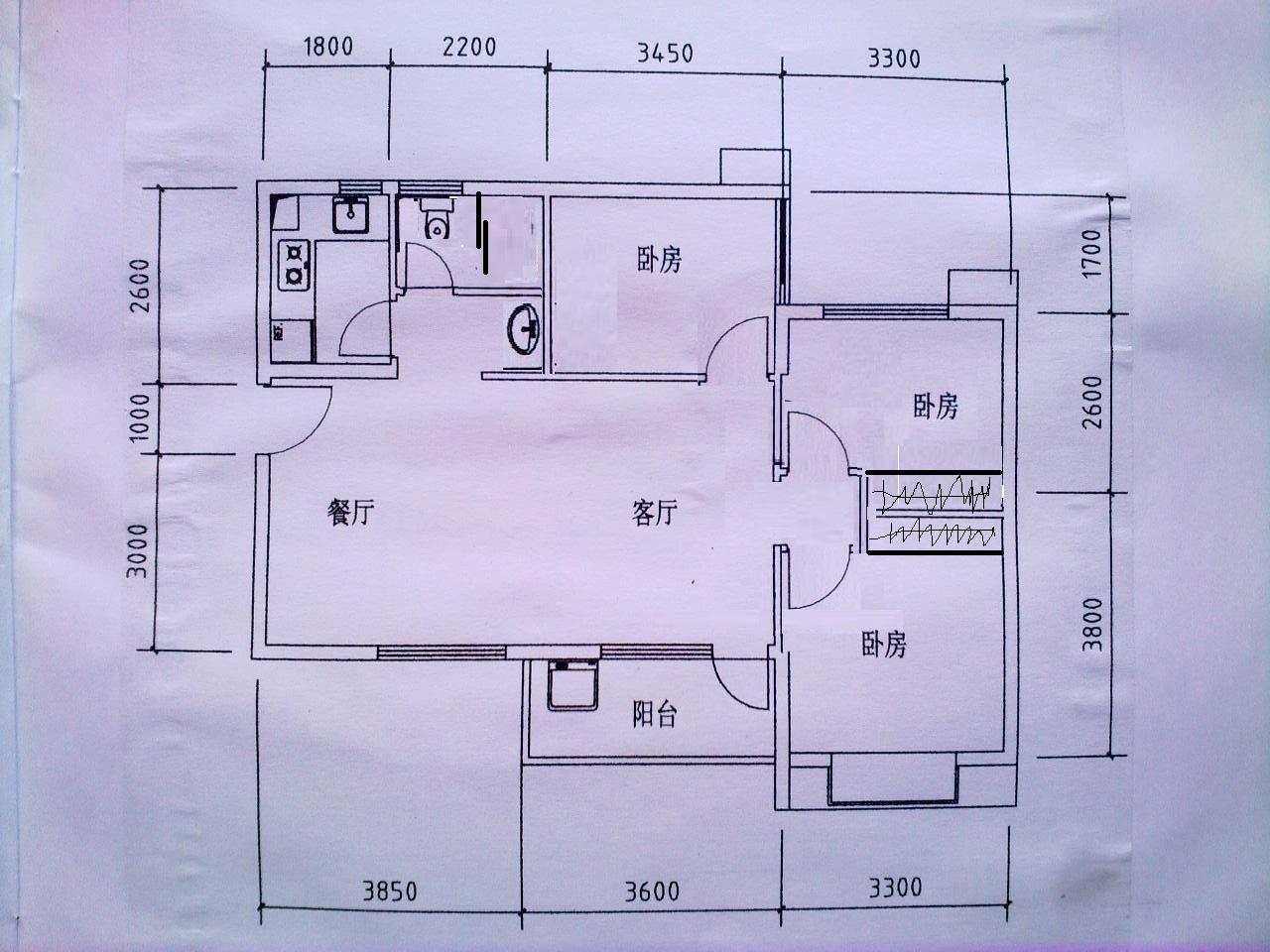 求四间二层楼房设计图,东西长12.8米,南北12米,楼梯在