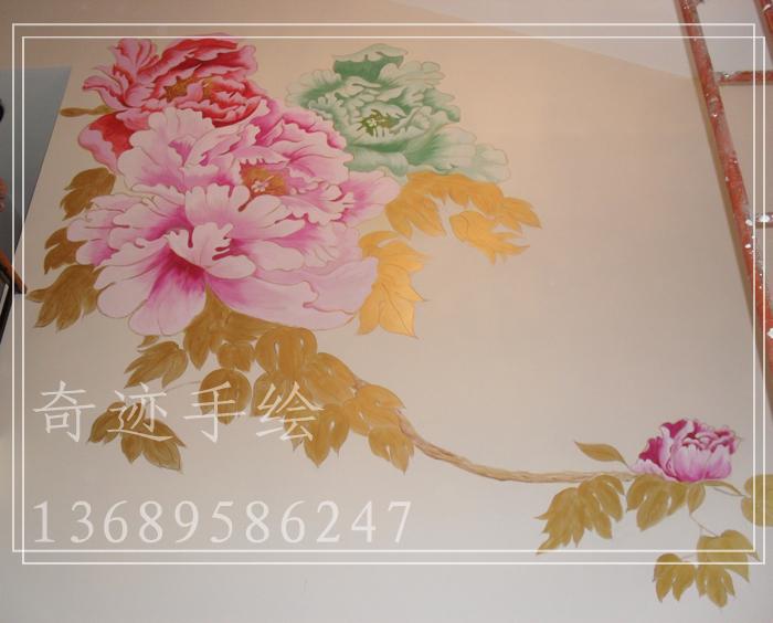 > 创意家居—客厅手绘墙画