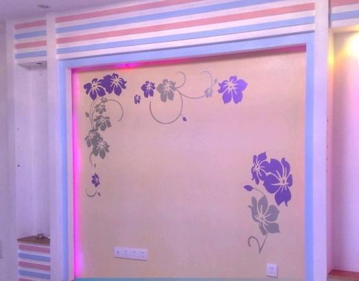 办公室墙壁手绘花边