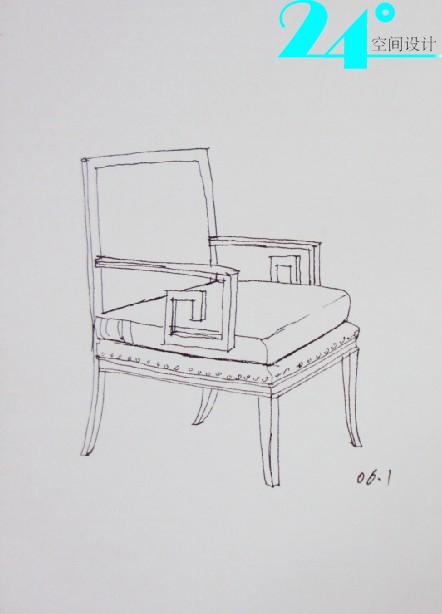 手绘椅子 设计师沙龙