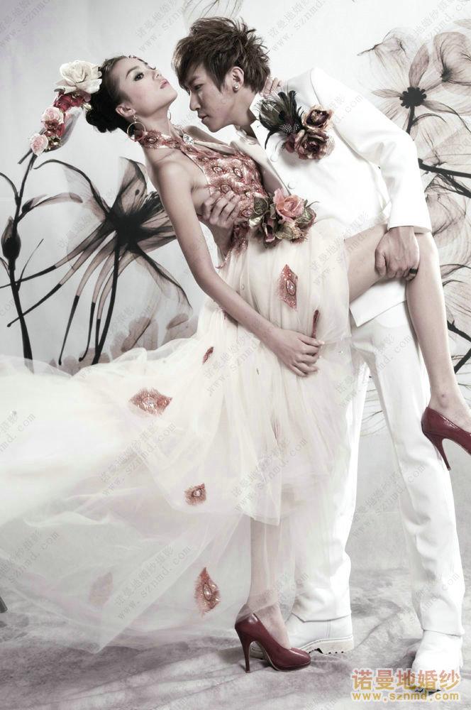 深圳婚纱摄影团购风暴隆重推出诺曼地欧式华丽婚纱照图片