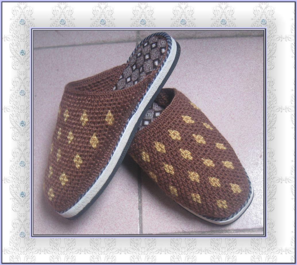 编织棉鞋老爸图解