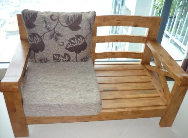 一品木歌双人实木沙发