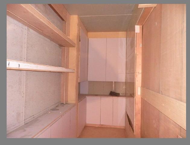 木工双面鞋柜隔断图片