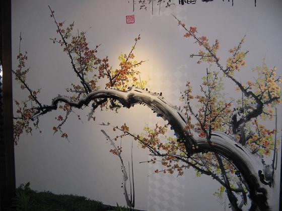 梅花墙绘图片大全