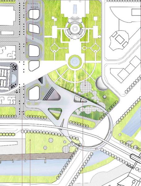 龙岗中心的三馆一城设计方案出炉