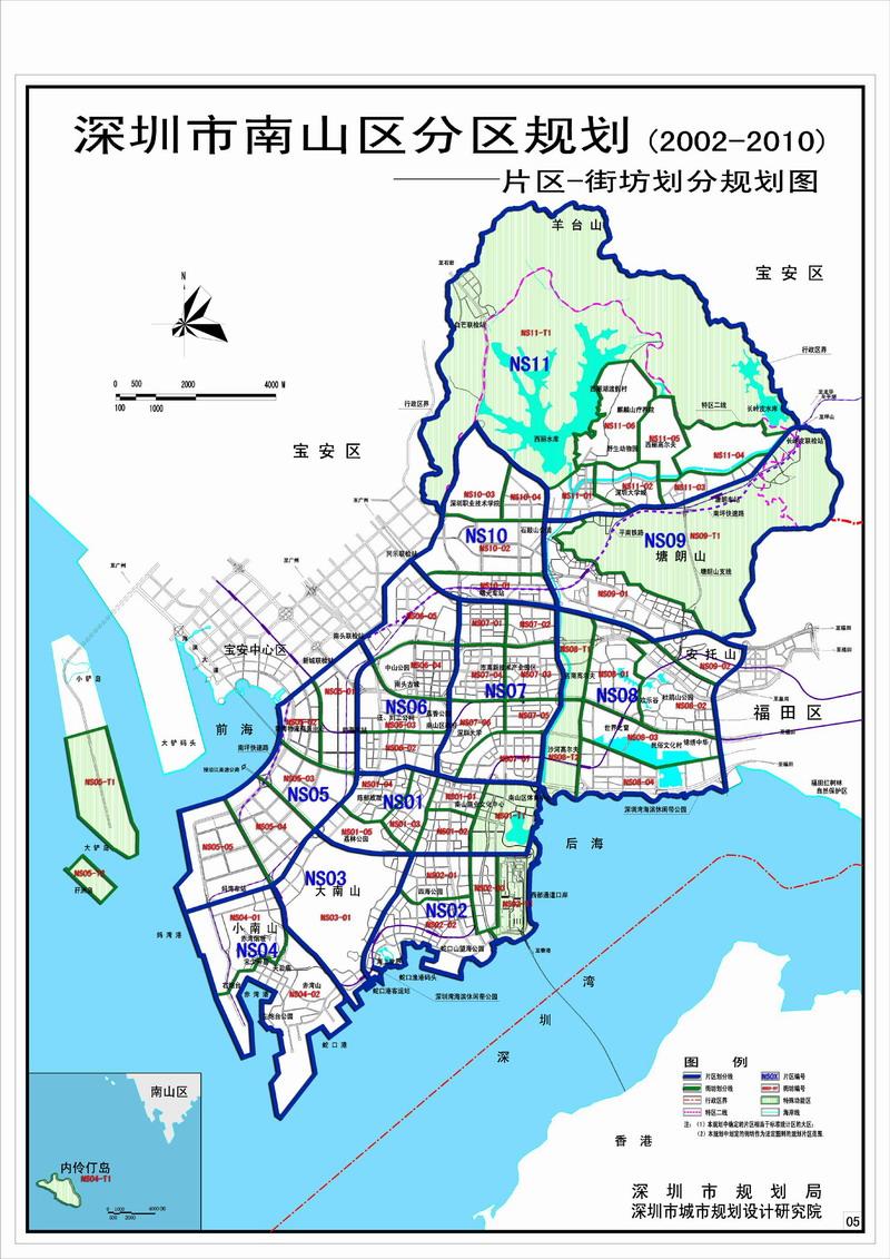 深圳市南山区地图