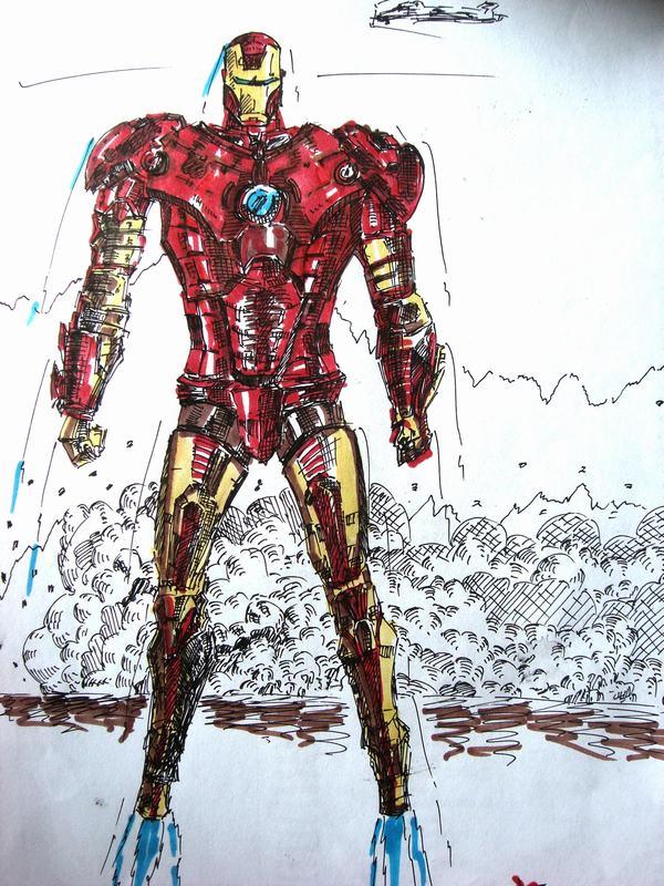 钢铁侠素描图片大全 钢铁侠绘画图片大全 钢铁侠超清图片