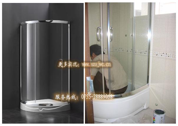 圆形淋浴房安装细节图