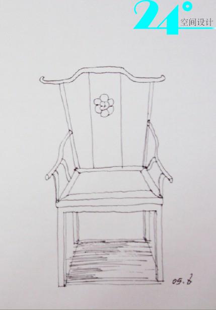 手绘创意椅子三视图,手绘桌子椅子三视图,椅子手绘效果图三视图,手绘