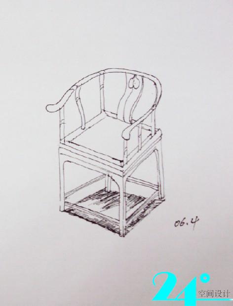 手绘椅子设计三视图 手绘创意椅子三视图 椅子三视图手绘