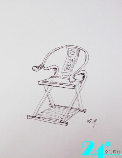 手绘椅子-------------------从建筑大师设计椅子