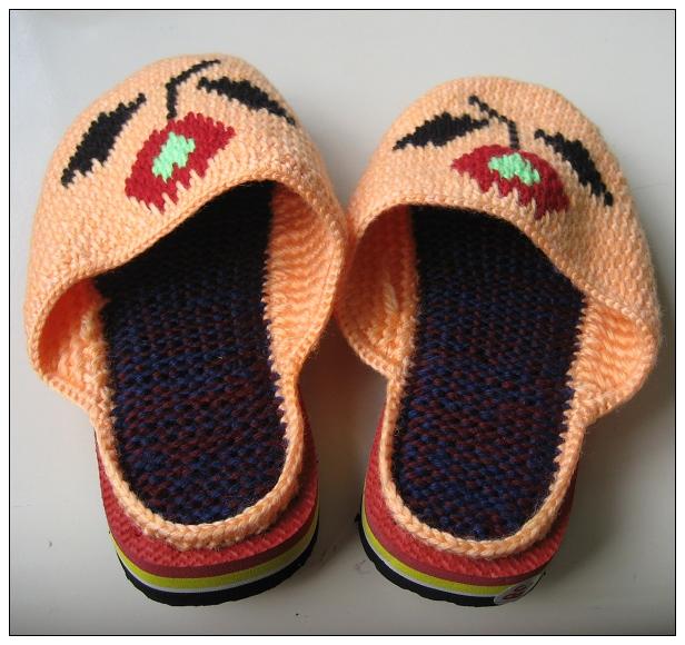 钩织拖鞋手工编织手工毛线拖鞋超低价清有图片细节