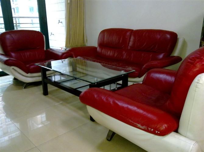 红皮沙发图片
