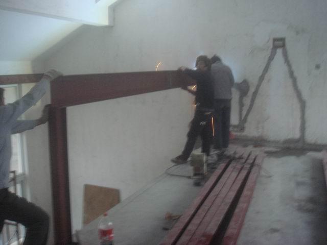 我的小高层钢结构混凝土阁楼施工过程