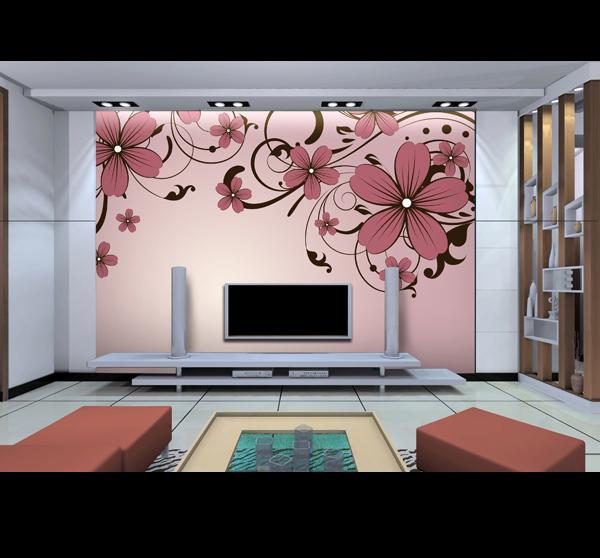 供应丙烯颜料手绘墙电视柜背景壁画;