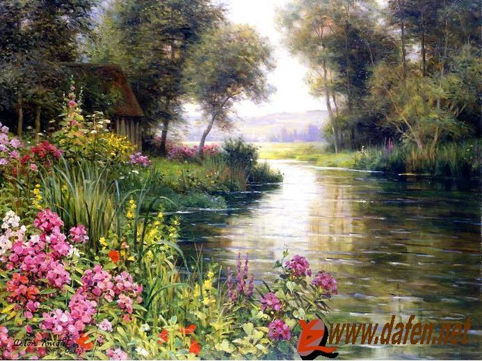 写实风景油画,尺寸为40*60cm