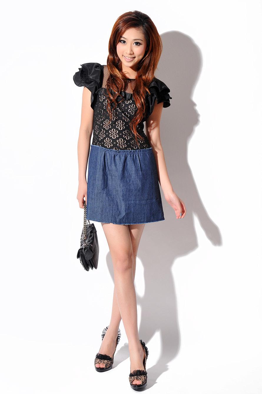 超级好看的miumiu荷叶边牛仔连衣裙,原价328 现对折出售,数量有限