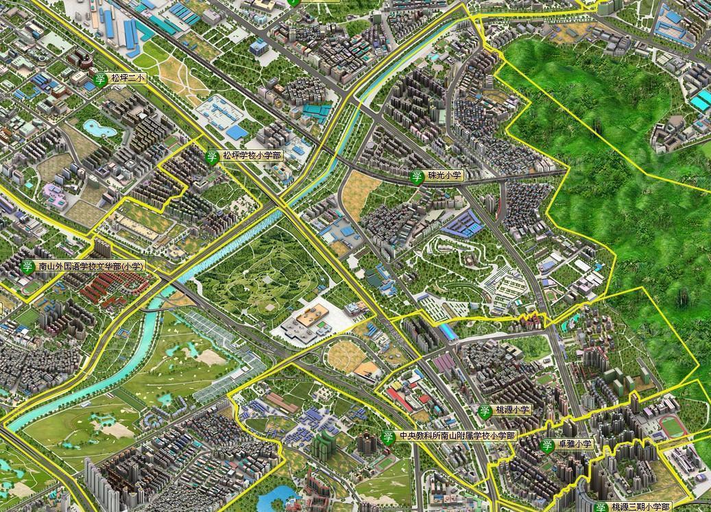 深圳学区学位划分地图《一》(特别鸣谢:南山区