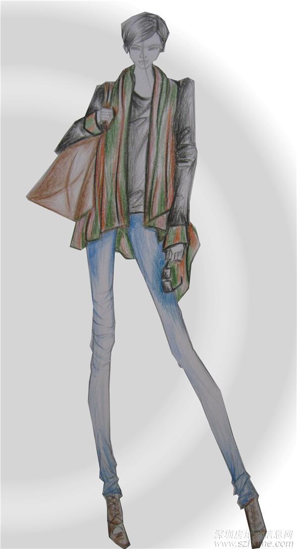 最近的服装设计手稿