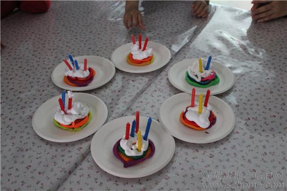 手工制作橡皮泥蛋糕——作品完成