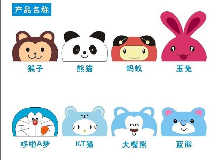 可爱的卡通动物汗巾,适合上幼儿园的男女宝宝们!
