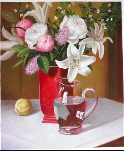 漂亮的写实花卉油画,尺寸为40 60CM,价格398元