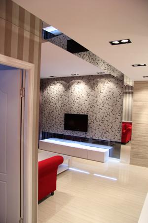 电视墙和灰木纹端景墙