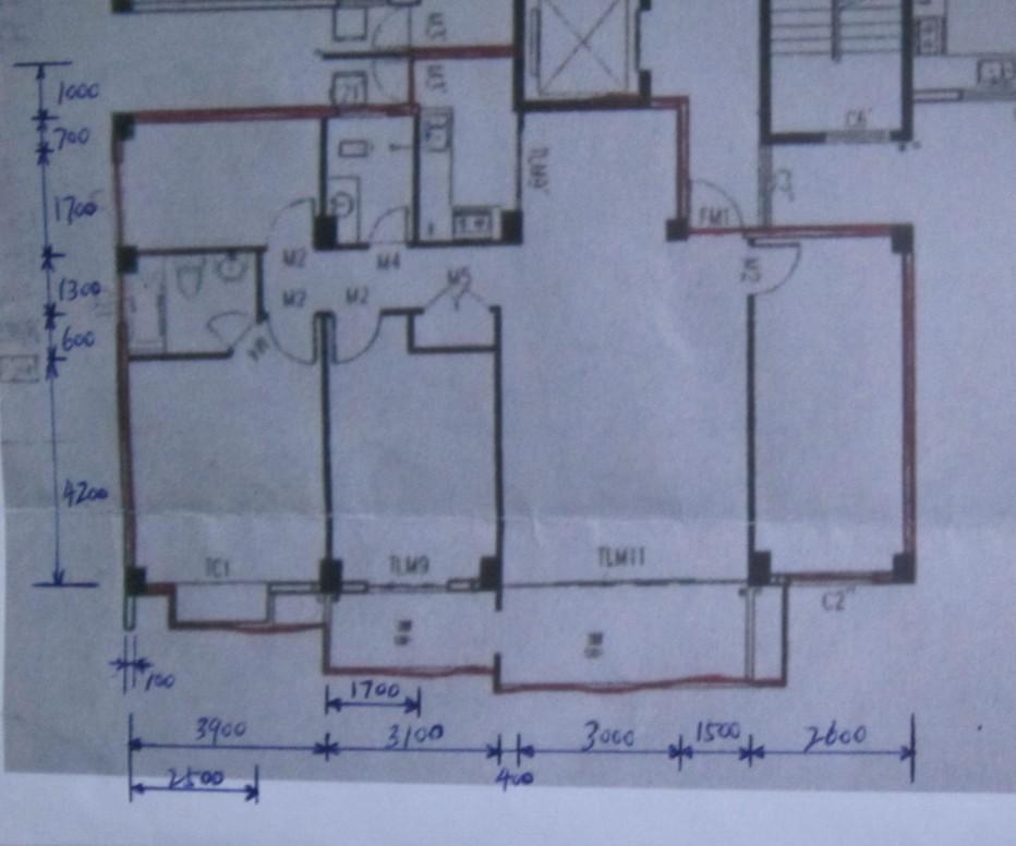 三房一厅平面设计图展示