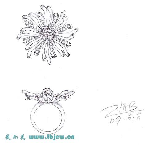 广州爱如美珠宝首饰手绘平面设计