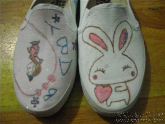 第一次画的手绘鞋