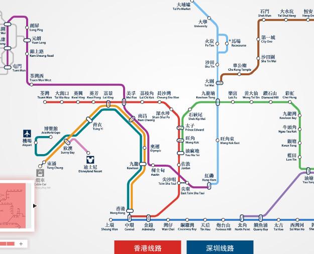 香港地铁线路图 香港地图 香港地铁站线路图图片
