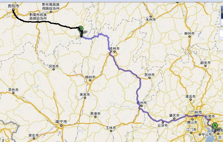 高铁站点详解 贵广铁路路线图 - 深圳本地 广州到郑州坐高铁-桌面广图片