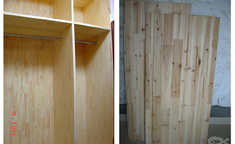 双面的樟子松是不是柜体外面和里面都不用贴饰面板或免漆板了?