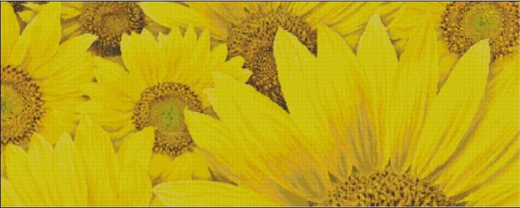 求向日葵的十字绣图纸和线号