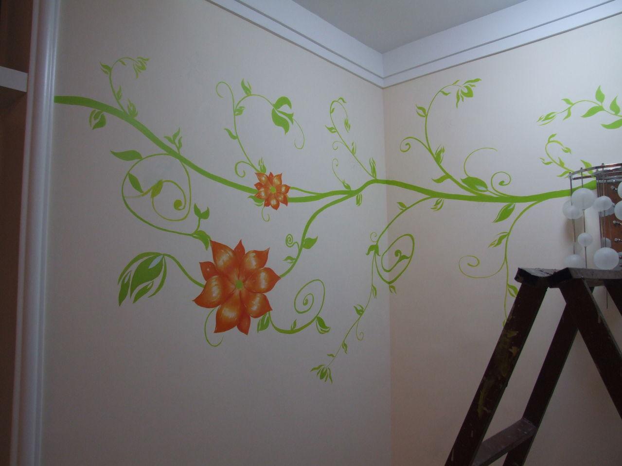 手绘墙画 壁画 墙画; 壁画风采:电视背景墙壁画,楼梯墙壁画,客厅转角
