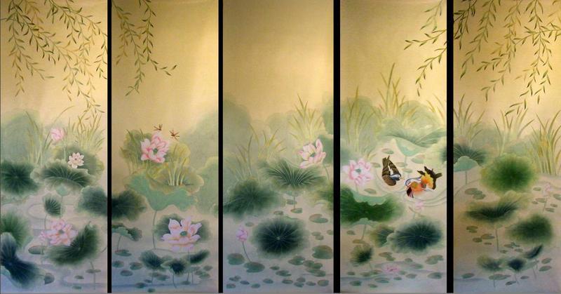 我们的手绘壁纸分为欧洲风格的壁纸和中国风格的壁纸,它追求艺术性