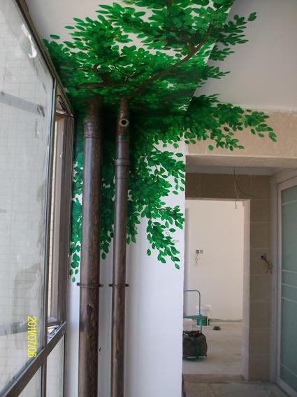 下水管道手绘树
