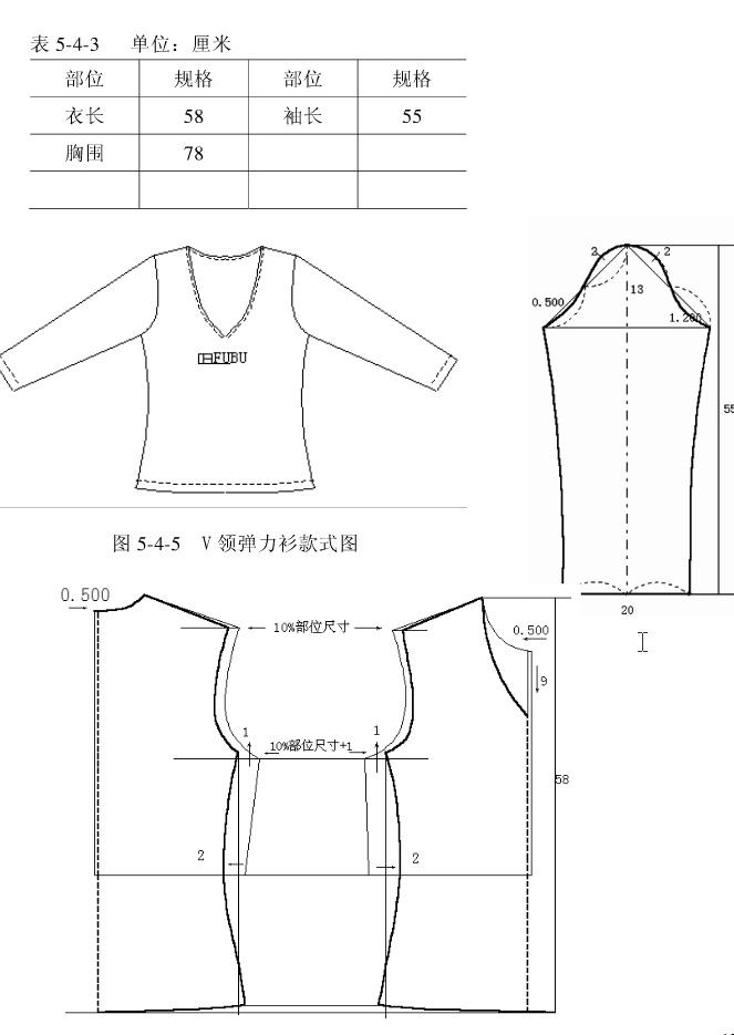 分享基本教程,针织服装纸样画法(非原创)