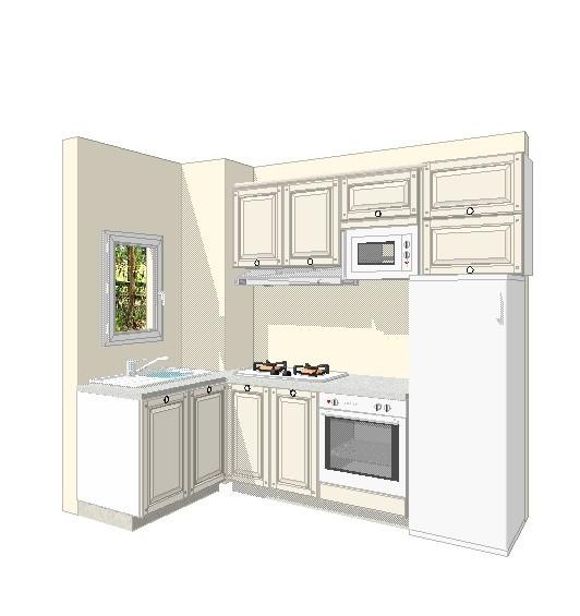 厨房效果图 50平面小两房变小三房简欧装修日记