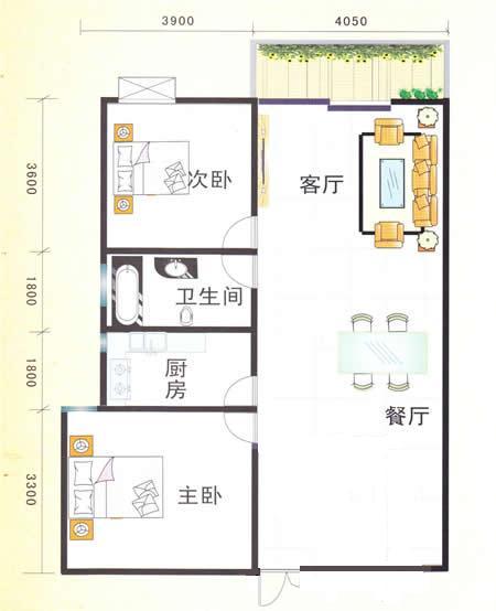 请大师帮我设计下这个户型如何改3室