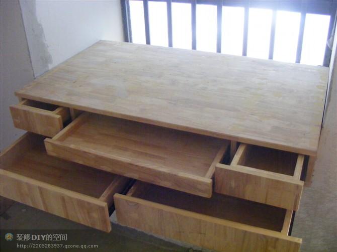 木工自己做的床的图片